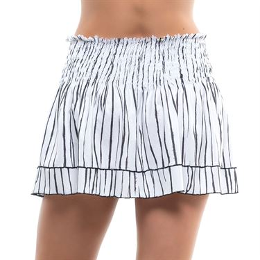 Lucky in Love Going Wild Long Zebra Smock Skirt Womens White CB500 E41110