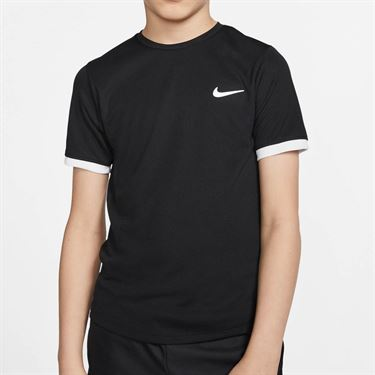 Nike Boys Court Dry Crew - Black/White
