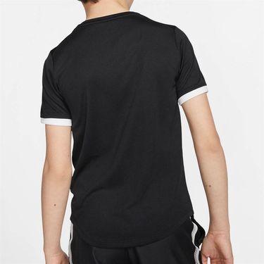 Nike Boys Court Dry Crew - Black/White