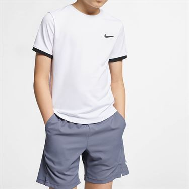 Nike Boys Court Dry Crew - White/Black