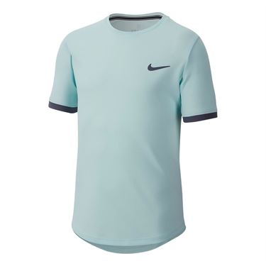 Nike Boys Court Dry Crew - Teal Tint/Light Carbon