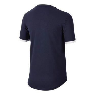 Nike Boys Court Dry Crew - Obsidian/White