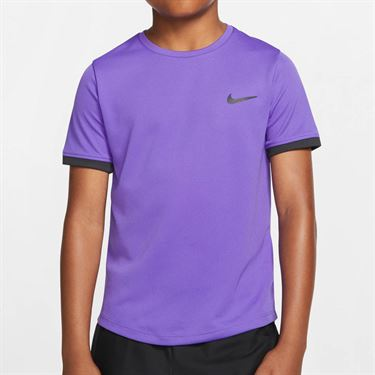 Nike Boys Court Dry Crew - Psychic Purple/Off Noir