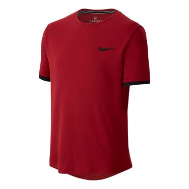 Nike Boys Court Dry Crew - Team Crimson/Black