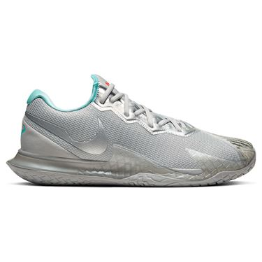 Nike Air Zoom Vapor Cage 4HC Mens Tennis Shoe Metallic Silver CD0424 004
