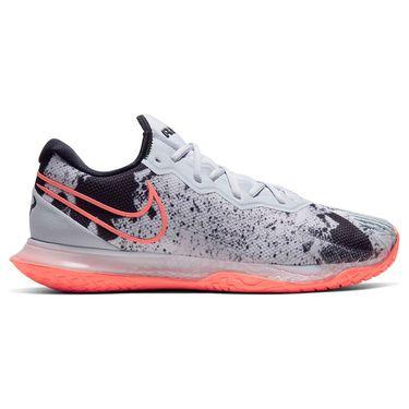 Nike Court Air Zoom Vapor Cage 4 Mens Tennis Shoe Sky Grey/Bright Mango/White/Black CD0424 006