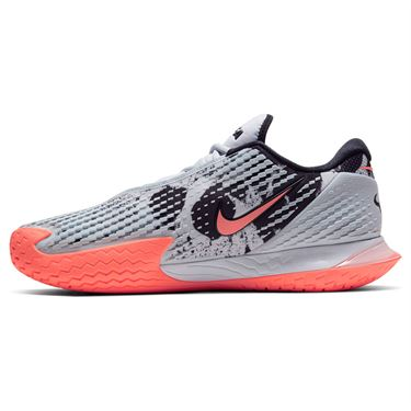 Nike Court Air Zoom Vapor Cage 4 Mens Tennis Shoe Sky Grey/Bright Mango/White/Black CD0424 006