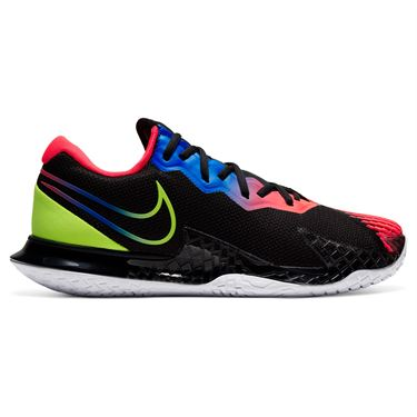 Nike Court Air Zoom Vapor Cage 4 Mens Tennis Shoe Black/Volt/Laser Crimson/Racer Blue CD0424 007