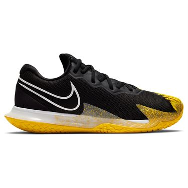 Nike Court Air Zoom Vapor Cage 4 Mens Tennis Shoe Black/White/Speed Yellow CD0424 008