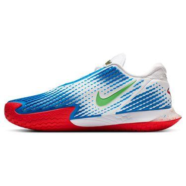 Nike Court Air Zoom Vapor Cage 4 Mens Tennis Shoe White/Photo Blue/Electric Green CD0424 101