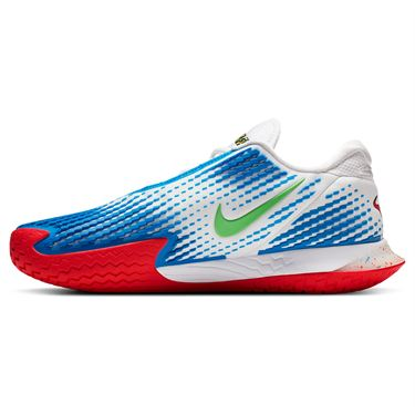 Nike Court Air Zoom Vapor Cage 4 Mens Tennis Shoe White/Photo Blue/Electric Green CD0424 101