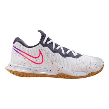 Nike Court Air Zoom Vapor Cage 4 Mens Tennis Shoe White/Laser Crimson/Gridiron/Wheat CD0424 105