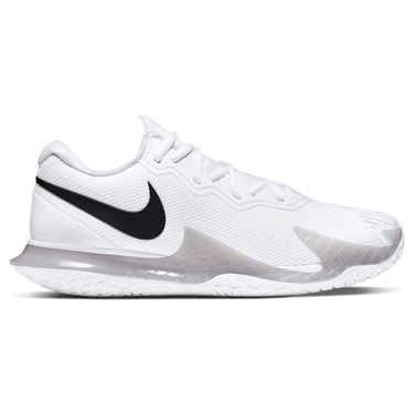 Nike Court Air Zoom Vapor Cage 4 Mens Tennis Shoe White/Black/Grey Fog CD0424 107