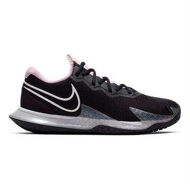 Nike Court Air Zoom Vapor Cage 4 Womens Tennis Shoe Black/White/Pink Foam/Dark Smoke Grey CD0431 001