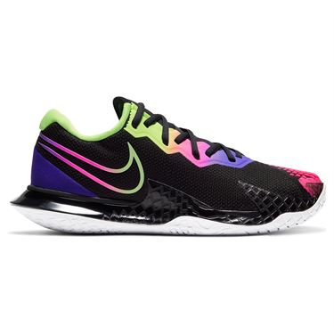 Nike Court Air Zoom Vapor Cage 4 Womens Tennis Shoe Black/Liquid Lime/Fierce Purple CD0431 002