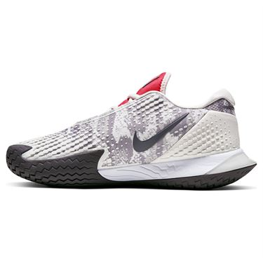 Nike Court Air Zoom Vapor Cage 4 Womens Tennis Shoe Platinum Tint/Thunder Grey/Laser Crimson CD0431 004