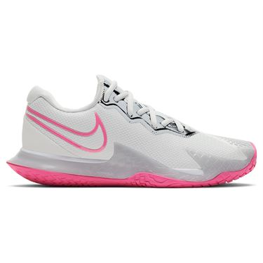 Nike Air Zoom Vapor Cage 4 HC Womens Tennis Shoe Grey Fog/Pink Blast/White CD0431 005