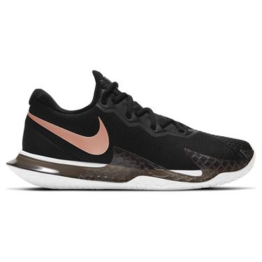 Nike Court Air Zoom Vapor Cage 4 Womens Tennis Shoe Black/Metallic Red Bronze/White CD0431 006