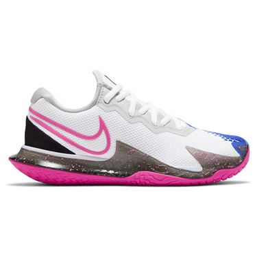 Nike Court Air Zoom Vapor Cage 4 Womens Tennis White/Laser Fuchsia/Sapphire/Hot Lime CD0431 101