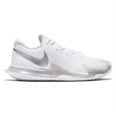 Nike Court Air Zoom Vapor Cage 4 Womens Tennis Shoe White/Metallic Silver/Grey Fog CD0431 104