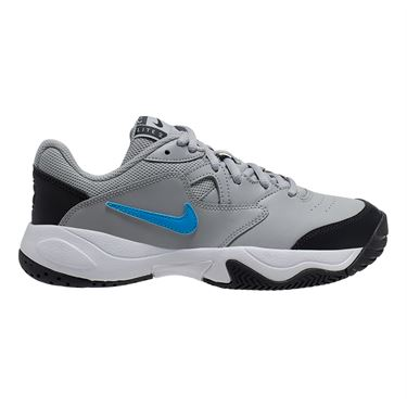 Nike Junior Court Lite 2 Tennis Shoe Light Smoke Grey/Blue Hero/Off Noir/White CD0440 005