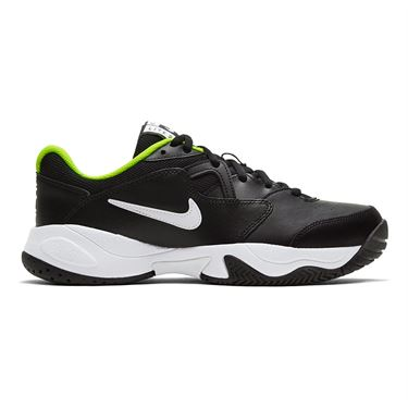 Nike Junior Court Lite 2 Tennis Shoe Black/White/Volt CD0440 007