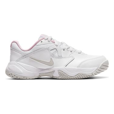 Nike Junior Court Lite 2 Tennis Shoe White/Photon Dust/Pink Foam CD0440 100