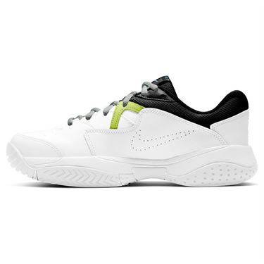 Nike Court Lite 2 Junior Tennis Shoe White/Neo Turquoise/Hot Lime/Light Smoke Grey CD0440 101