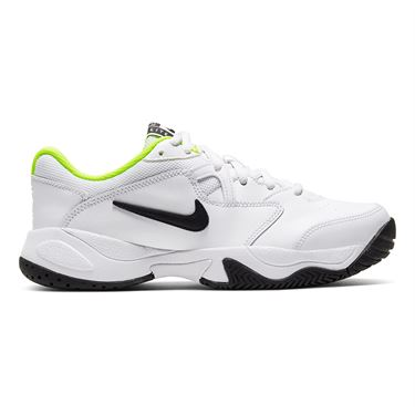 Nike Junior Court Lite 2 Tennis Shoe White/Black/Volt CD0440 104