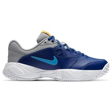 Nike Court Lite 2 Junior Tennis Shoe Deep Royal Blue/Coast/Light Smoke Grey CD0440 401