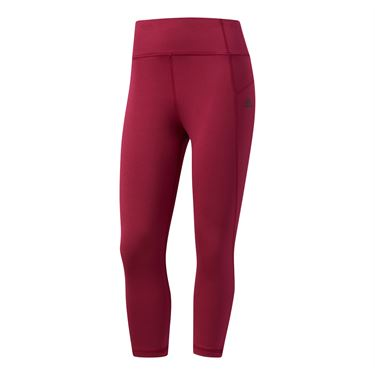 adidas Performer High Rise 3/4 Tight - Ruby/Black