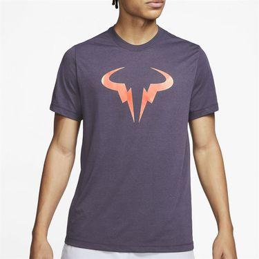 Nike Court Dri Fit Rafa Tee Shirt Mens Gridiron CD2144 015