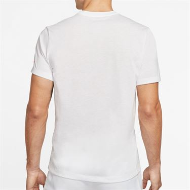 Nike Court Dry Rafa Tee Shirt Mens White CD2144 100