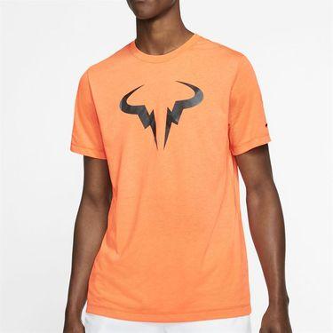 Nike Court Dri Fit Rafa Tee Shirt Mens Orange Plus CD2144 892