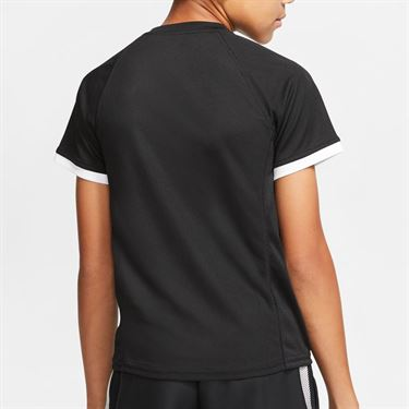 Nike Boys Court Dri Fit Crew Shirt Black CD6131 010