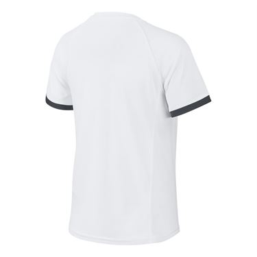Nike Boys Court Dri Fit Crew Shirt White/Black CD6131 101