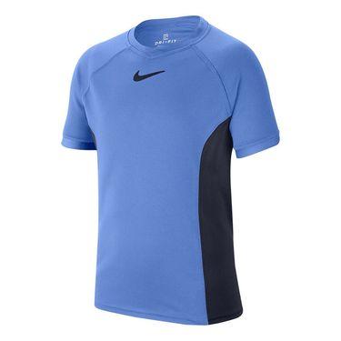 Nike Boys Court Dri Fit Crew Shirt Royal Pulse/Obsidian CD6131 478