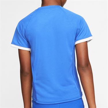 Nike Boys Court Dri Fit Crew Shirt Game Royal/White CD6131 480