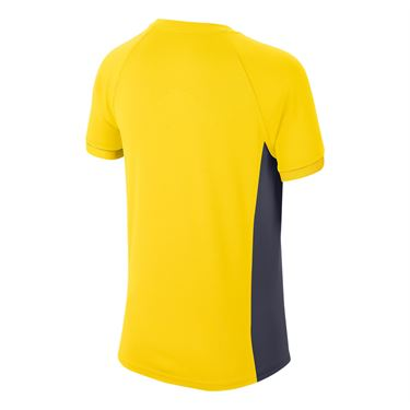 Nike Boys Court Dri Fit Crew Shirt Opti Yellow/Gridiron CD6131 731