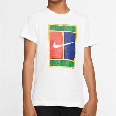Nike Boys Court Heritage Logo Tee - White