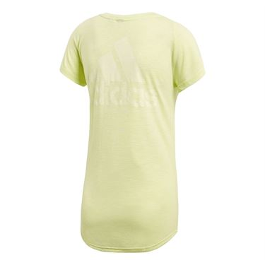 adidas Winners V Neck Tee - Semi Frozen Yellow