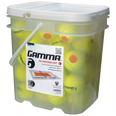 Gamma 60 Orange Dot Tennis Ball 48 Ball Bucket