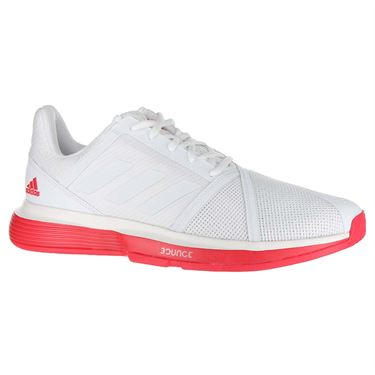 adidas Court Jam Bounce Mens Tennis Shoe - White/Shock Red