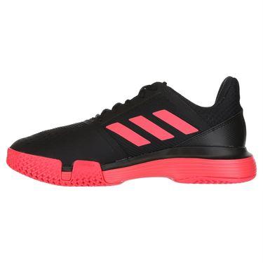 buy online d60e8 9008b ... adidas Court Jam Bounce Mens Tennis Shoe - Core Black Shock Red White