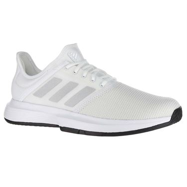a3c946d89c9b adidas Game Court Mens Tennis Shoe - White Matte Silver Core Black
