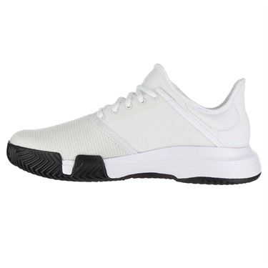 adidas Game Court Mens Tennis Shoe - White/Matte Silver/Core Black