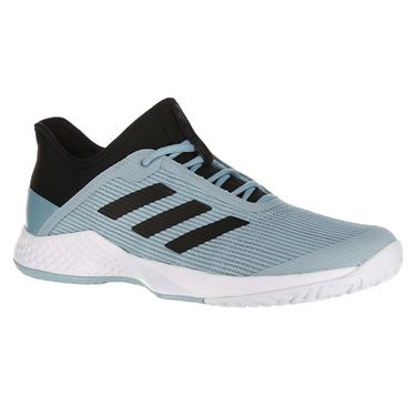 adidas Adizero Club Mens Tennis Shoe - Core Black/Ash Grey