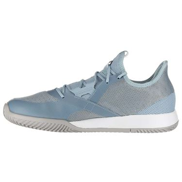 adidas Adizero Defiant Bounce Mens Tennis Shoe - Ash Grey/Light Granite/White
