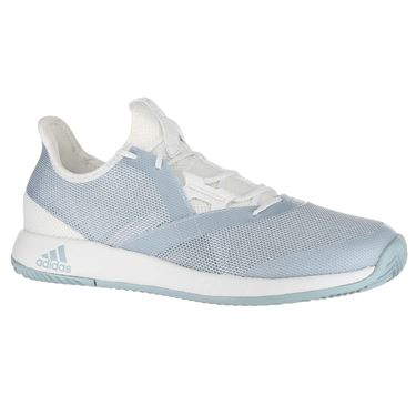 adidas Adizero Defiant Bounce Womens Tennis Shoe - White/Ash Grey