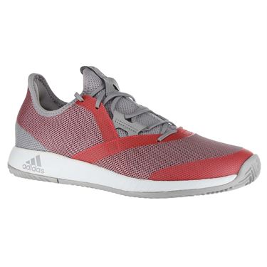 adidas Adizero Defiant Bounce Womens Tennis Shoe - Light Granite/Shock Red/White